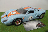FORD  GT40 # 11 LE MANS Gulf 1/18 UNIVERSAL HOBBIES voiture miniature collection