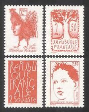 France 1992 First Republic Anniversary/Marianne/Cockerel/Tree 4v set (n43025)