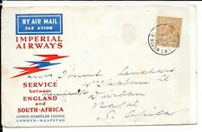 GB IMPERIAL AIRWAYS 1/- RATE TO SOUTH AFRICA