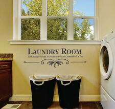 Wall stickers custom colour laundry room quote Removable Art Vinyl Decor Home