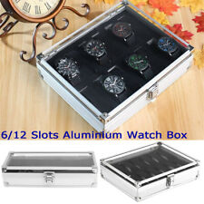 6/12 Grids Slot Leather Jewelry Watch Display Case Box Storage Holder Collection