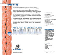 "New listing Heavy Industrial Rope 1-3/4"" Diameter 33' long Saturn-12 302,000lb Tensile Str"