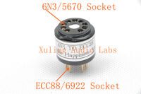1pc Gold plated 5670 6N3 WE396A instead ECC88 6922 6DJ8 tube adapter for you amp
