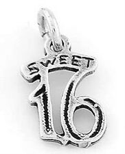 925 STERLING SILVER SWEET 16 CHARM/PENDANT