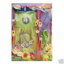 Disney's Tinker Bell Dress Up Fairy Costume Pretend Play Time Free Ship'g NIB