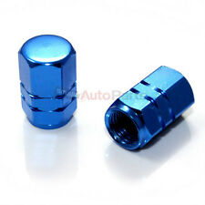 2 Blue Aluminum Tire/Wheel Air Stem Valve Metal CAPS for Motorcycle-Bike-Scooter