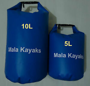 5L+10L WATERPROOF DRY BAG - KAYAK CANOE SURF SKI BOAT- PHONE CAMERA CAMPING