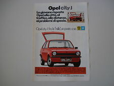 advertising Pubblicità 1977 OPEL KADETT CITY J