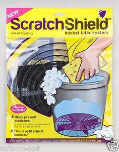 1 x Black Scratch Shield for Car Wash Bucket - Grit Guard