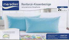 2 x Renforce Kissenbezüge 40x80 cm Kissen Bezug Kissenbezug Kissenhülle Blau