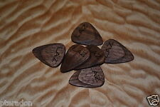 6 Custom Wooden Guitar Picks, Laser Engraving Service