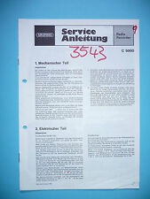 Manuale di servizio per Grundig C 5000 radio registratore, originale