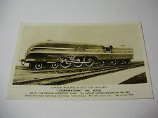 "Lot57x - LMSR ""CORONATION"" No 6220 LMS Railway Train Postcard"