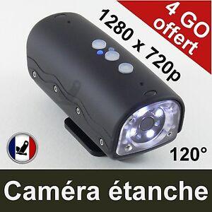 Camera Sport Etanche 1280x720 120° Nocturne Led Surveillance Detection Mouvement