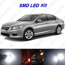 12 x Ultra White SMD LED interior Lights Kit for 2013-2016 Honda Accord