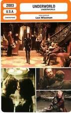 FICHE CINEMA : UNDERWORLD - Beckinsale,Speedman,Wiseman 2003