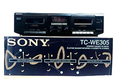 Sony Tc-We305 Stereo Dual Cassette Tape Deck Player Recorder High Speed Dubbing