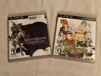 Lot of 2 Playstation 3 Games (PS3) : White Knight Chronicles & Tales Of Symphoni