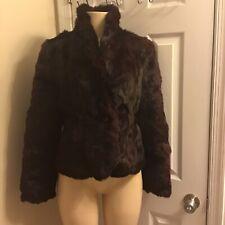 Niki Dyed Rabbit Fur coat. Color: Dark Purple. Women Size M.