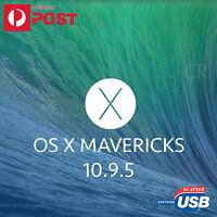 Mavericks 10.9.5 mac osx os x macbook air pro imac replaces DVD/CD boot install