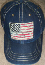 a9bbc9ee2c1 Polo Ralph Lauren Pony Leather Strap USA Flag Patch Baseball Denim Hat Ball  Cap