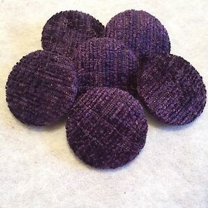 Purple Chenille Buttons, 16mm, 18mm, 20mm, 23mm, 25mm, 31mm 37mm,