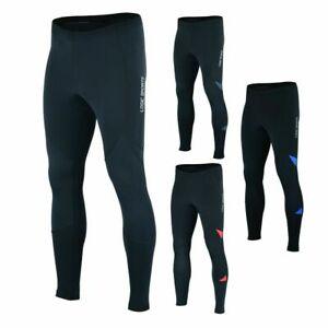 Logic Mens Thermal Cycling Tights Padded Long Pants Zip Bike Legging Cold Wear