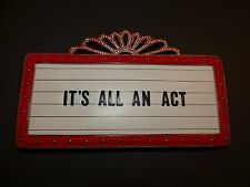 """Kate Spade Dress the Part """"It's all an Act"""" Marquee Clutch theater bag NWT"""