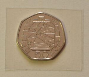 Genuine 50p Coin 1992/1993 EEC 50 Pence UK Presidency Dual Date Rare