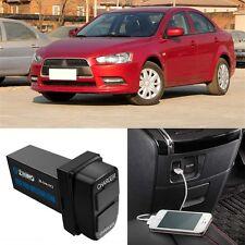 5V 3.0A Original Position 2 USB Socket Charger For Mitsubishi Lancer-EX