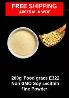 200g of Food grade Non GMO  soy lecithin powder E 322 ( not granules )