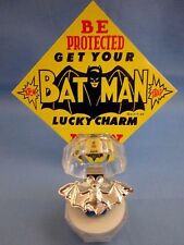 "1966 VINTAGE...""RARE SILVER BATMAN BAT RING"" - L@@K -  BATMAN LUCKY CHARM & SIGN"