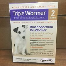 Durvet Triple Wormer for small dogs 2 tablets