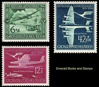 EBS Germany 1944 25th Anniversary German Air Mail Service - Michel 866-868 MNH**