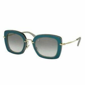 MIU MIU  womens sunglasses - MU07OS ROY 1E0 - Blue / Green - Gold