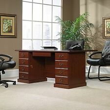 Sauder 109843 Heritage Hill Executive Desk A2, in Classic Cherry Finish New