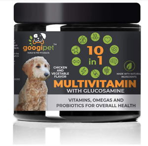 Googipet Natural 10 in 1 Dog Multivitamin with Glucosamine & PurforMSM - 07/22