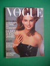VOGUE PARIS October 1987 Octobre 680 Lori Koebernick Guy Bourdin Cindy Crawford