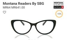 MONTANA Reading Glasses, +2.50, Swiss Design, Black Frame, FREE POST