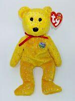 Ty Beanie Baby DECADE Bear Baby Golden Orange MWMTs 1 Owner Smoke Free Home