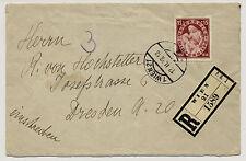 ÖSTERREICH 1938 REKO-AUSLANDSBRIEF, WIEN nach DRESDEN (Deutschland)