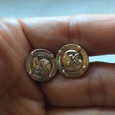 Women's Signed Michael Kors GOLD Tone Stainless/Metal Stud Pierced Earings