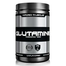 Kaged Muscle L-GLUTAMINE Powder 300g, 60 Servings UNFLAVORED Vegan Fermented