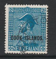 COOK ISLANDS 1936 2/- LIGHT BLUE SG 116 FINE USED.