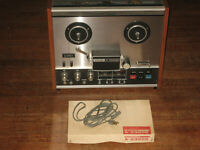 TEAC A-2300S Pro Serviced Open Reel Stereo Tape Deck, Orig Accessories