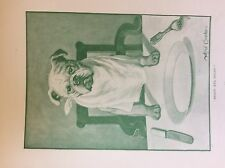 m17a1 ephemera 1920s book plate arthur cooke ready aye ready dog at dinner