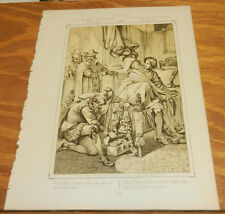 1863 Antique Print/LIFE AND DEATH OF THE INFANT DON CARLOS, IN SPAIN, IN 1568