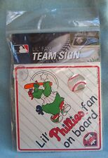 LIL PHILLIES FAN ON BOARD SIGN W/ SUCTION CUP, Philadelphia Phillies, MLB