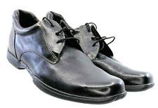 Cole Haan Air Fashion Sneaker Men's 10M Black Leather Lace Plain Toe Shoe c06717