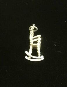 Silver Vintage CHARM  : ROCKING CHAIR . Excellent (ref21)